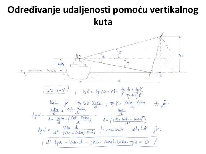 Određivanje udaljenosti pomoću vertikalnog kuta