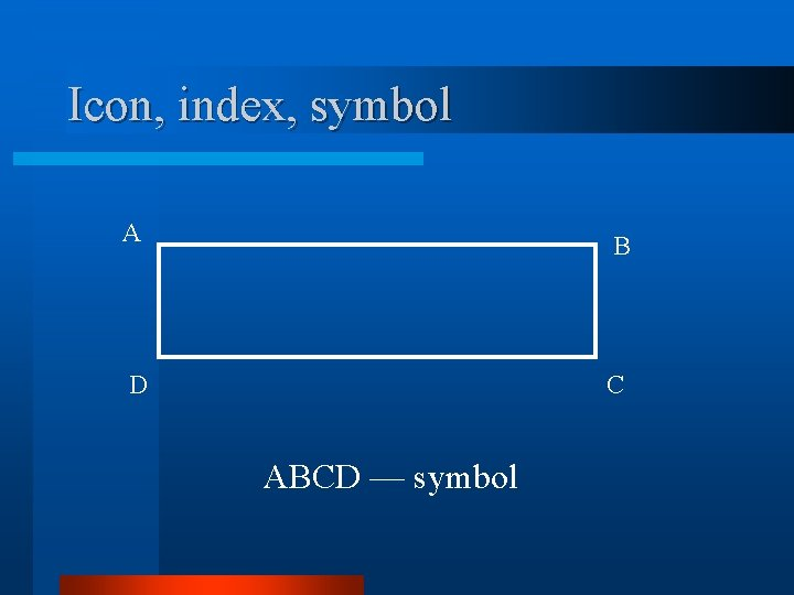 Icon, index, symbol A B D C ABCD — symbol