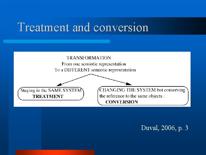 Treatment and conversion Duval, 2006, p. 3