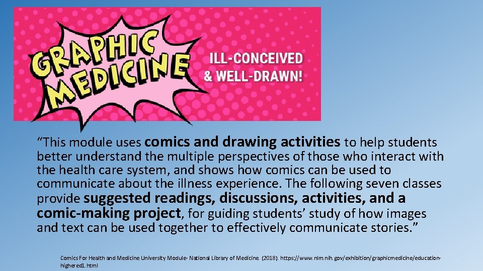 """""""This module uses comics and drawing activities to help students better understand the multiple"""