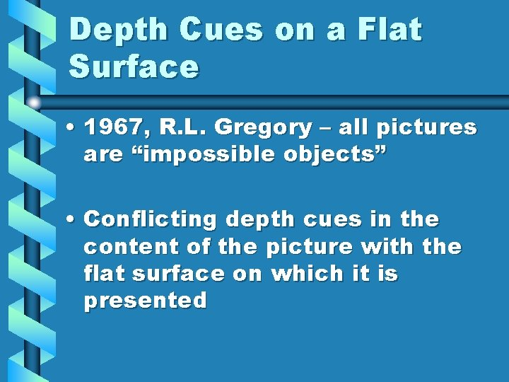 Depth Cues on a Flat Surface • 1967, R. L. Gregory – all pictures