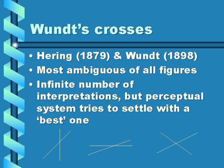 Wundt's crosses • Hering (1879) & Wundt (1898) • Most ambiguous of all figures