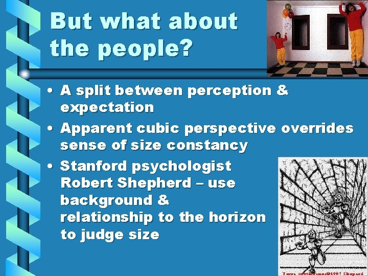 But what about the people? • A split between perception & expectation • Apparent