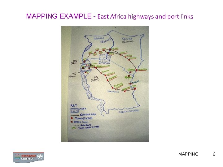 MAPPING EXAMPLE - East Africa highways and port links MAPPING 6