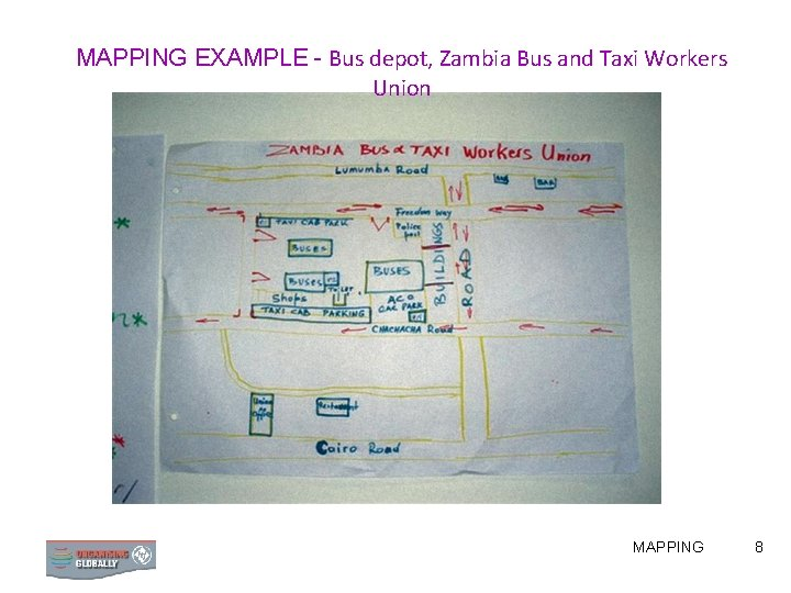 MAPPING EXAMPLE - Bus depot, Zambia Bus and Taxi Workers Union MAPPING 8