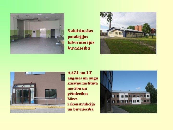 Salīdzinošās pataloģijas laboratorijas būvniecība AAZL un LF augsnes un augu zinātņu institūta mācību un