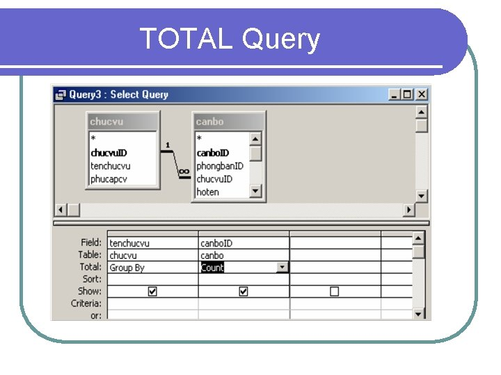 TOTAL Query