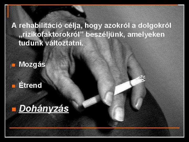 technika swing leszokott a dohányzásról
