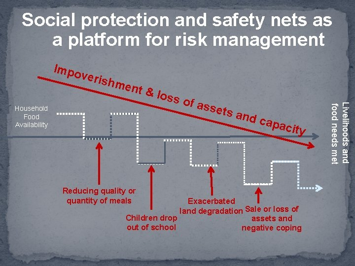 Social protection and safety nets as a platform for risk management Impo veris hme