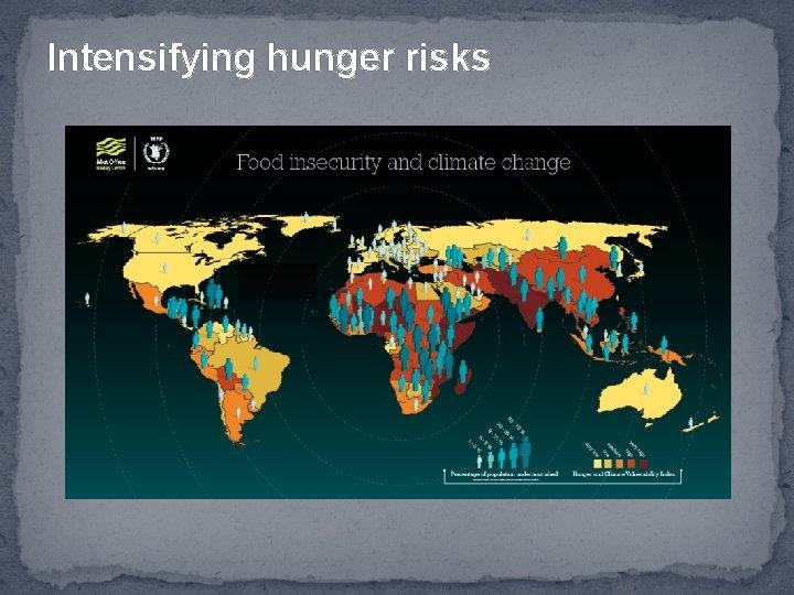 Intensifying hunger risks