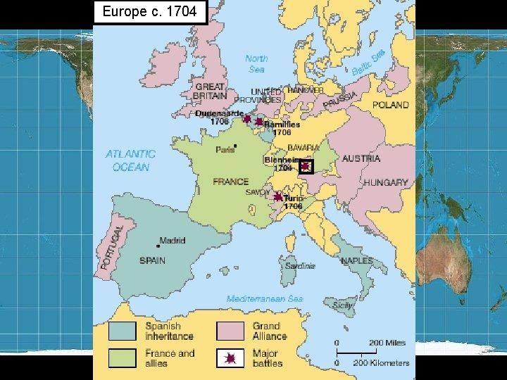 Europe c. 1704