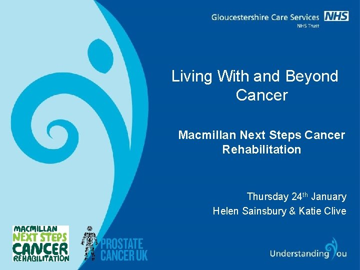 Living With and Beyond Cancer Macmillan Next Steps Cancer Rehabilitation Thursday 24 th January