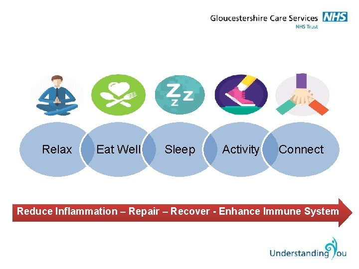 Relax Eat Well Sleep Activity Connect Reduce Inflammation – Repair – Recover - Enhance