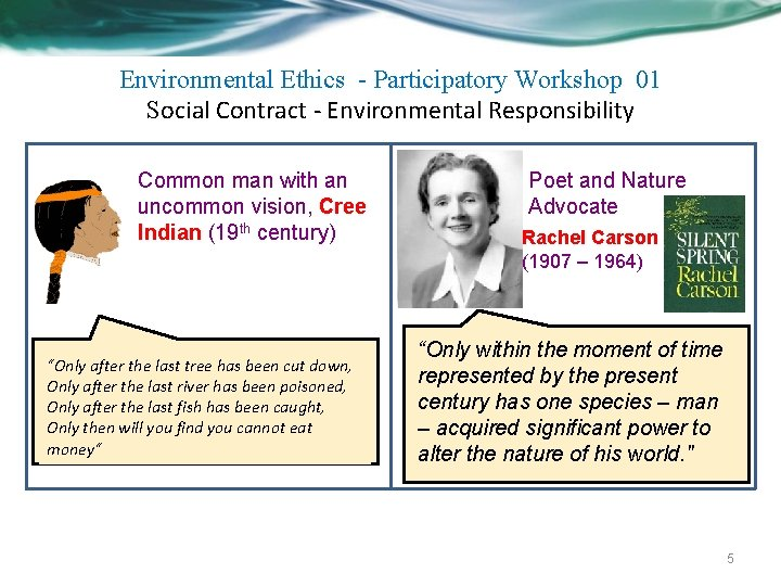 Environmental Ethics - Participatory Workshop 01 Social Contract - Environmental Responsibility Common man with