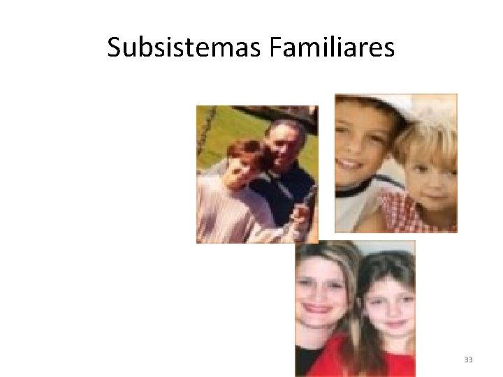 Subsistemas Familiares 33