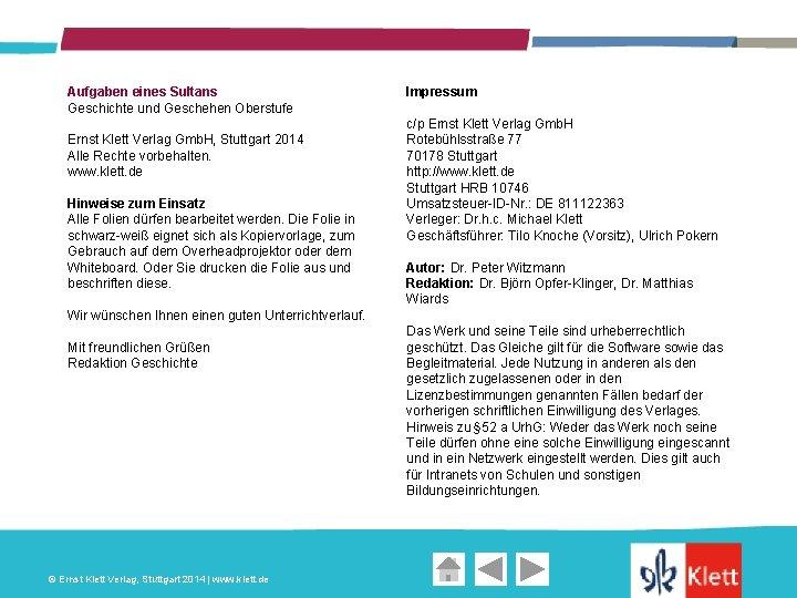 Aufgaben eines Sultans Geschichte und Geschehen Oberstufe Ernst Klett Verlag Gmb. H, Stuttgart 2014