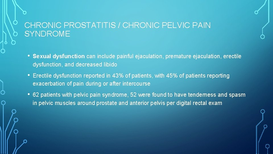 Exacerbation Prosztatitis