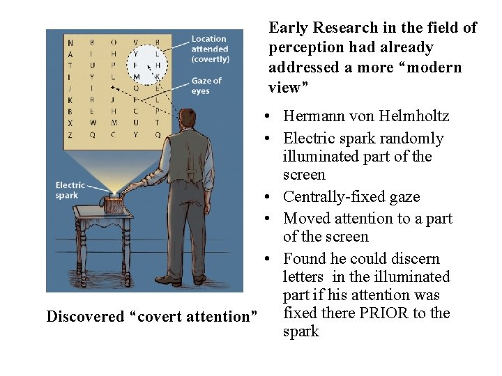 """Early Research in the field of perception had already addressed a more """"modern view"""""""