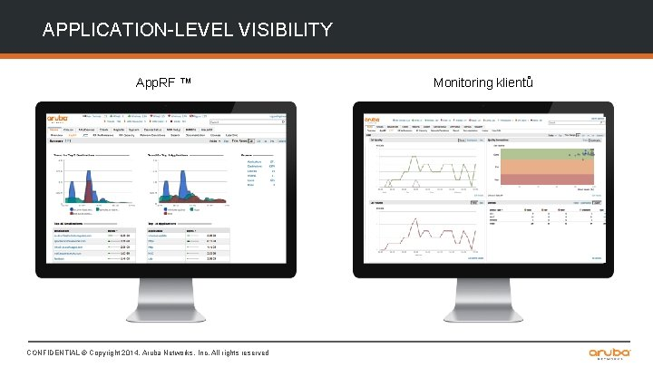 APPLICATION-LEVEL VISIBILITY App. RF ™ CONFIDENTIAL © Copyright 2014. Aruba Networks, Inc. All rights