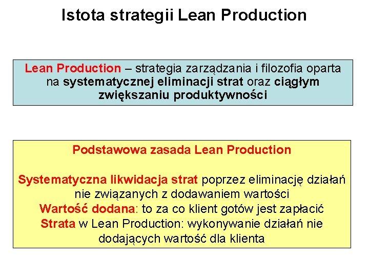 Istota strategii Lean Production – strategia zarządzania i filozofia oparta na systematycznej eliminacji strat
