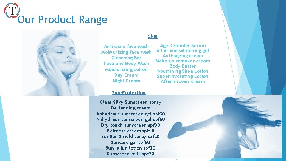 Our Product Range Skin Age Defender Serum Anti-acne face wash Moisturizing face wash All