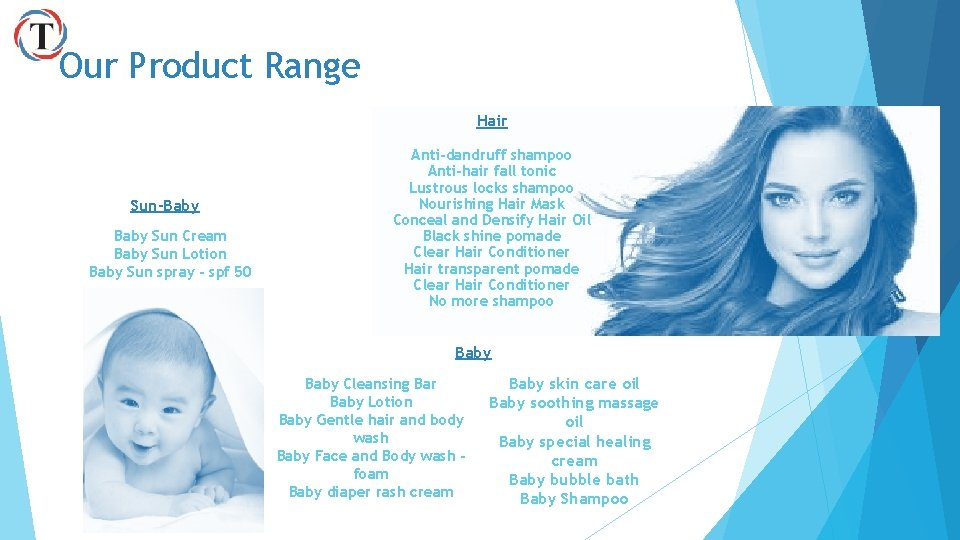 Our Product Range Hair Sun-Baby Sun Cream Baby Sun Lotion Baby Sun spray -