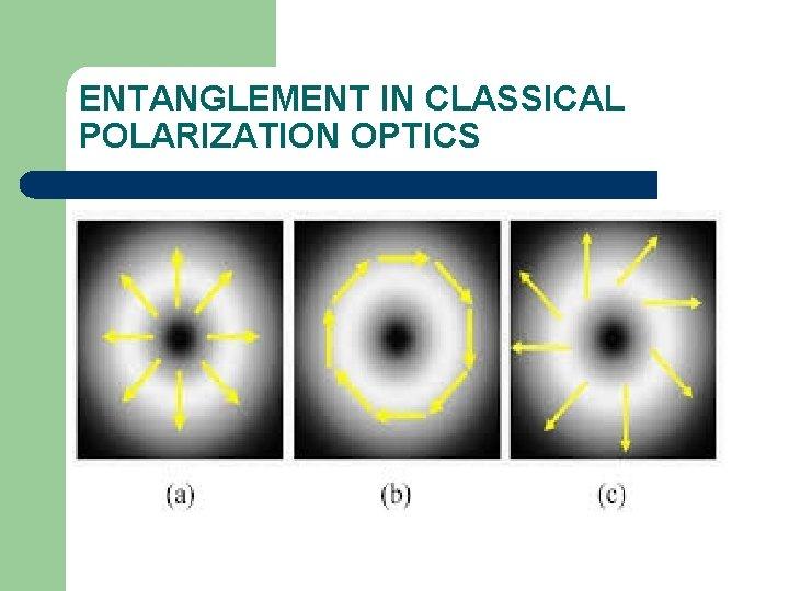 ENTANGLEMENT IN CLASSICAL POLARIZATION OPTICS