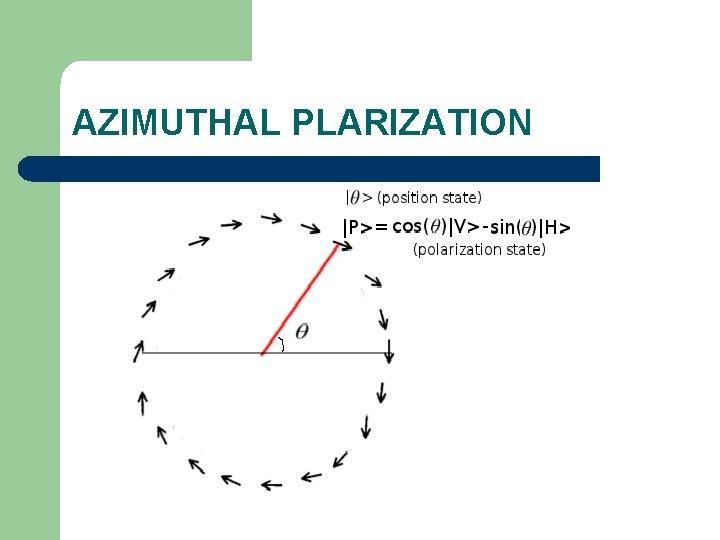 AZIMUTHAL PLARIZATION