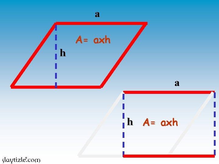 a h A= axh