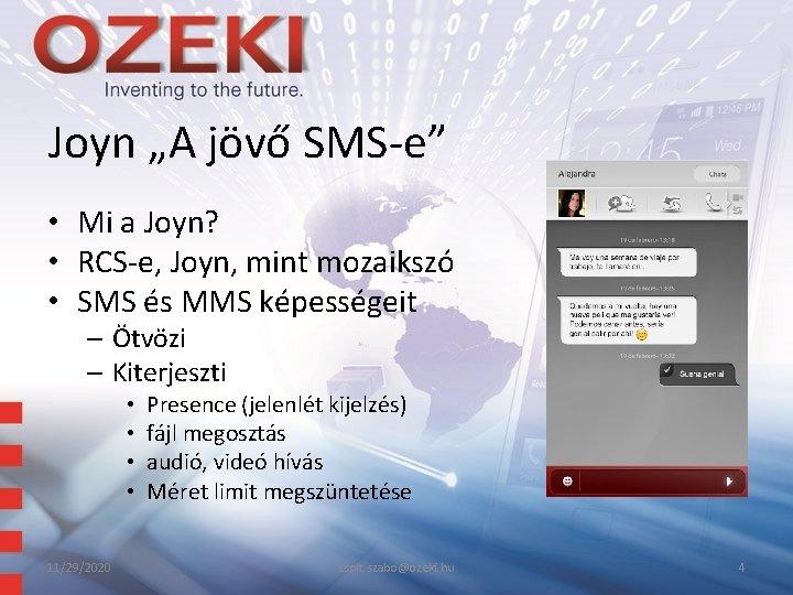 """Joyn """"A jövő SMS-e"""" • Mi a Joyn? • RCS-e, Joyn, mint mozaikszó •"""