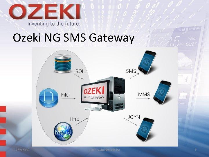 Ozeki NG SMS Gateway 11/29/2020 zsolt. szabo@ozeki. hu 7
