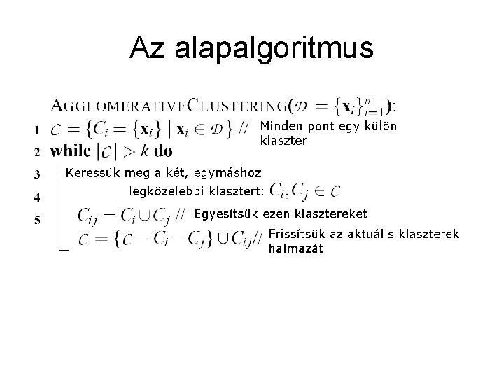 Az alapalgoritmus