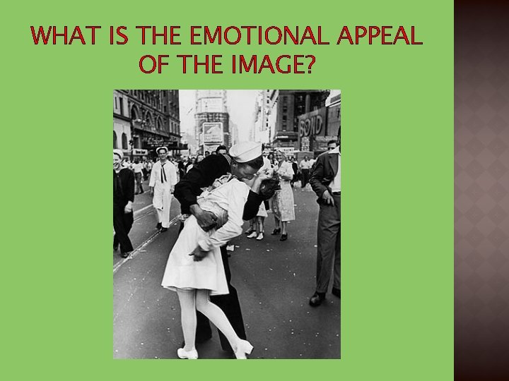 WHAT IS THE EMOTIONAL APPEAL OF THE IMAGE?