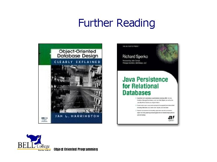 Further Reading Object Oriented Programming