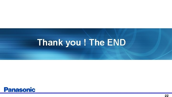 Thank you ! The END