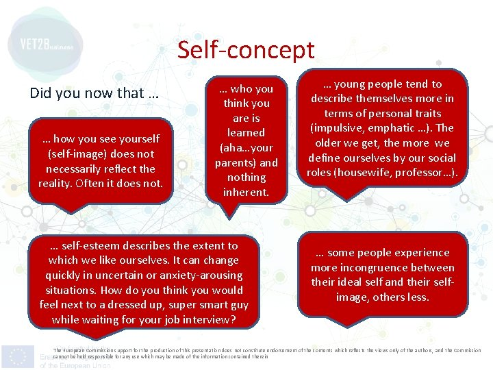 Self-concept Did you now that … … how you see yourself (self-image) does not