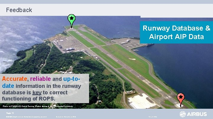 Feedback Runway Database & Airport AIP Data Accurate, reliable and up-todate information in the