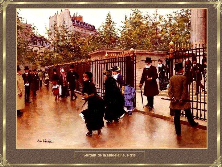 Sortant de la Madeleine, Paris