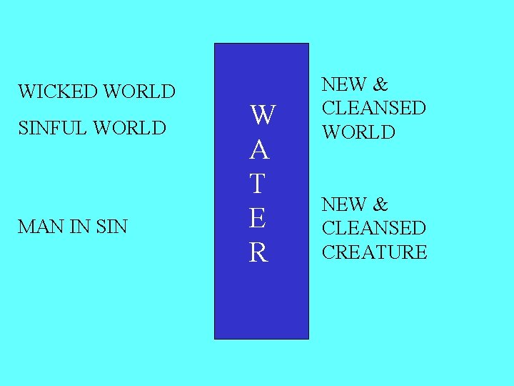 WICKED WORLD SINFUL WORLD MAN IN SIN W A T E R NEW &