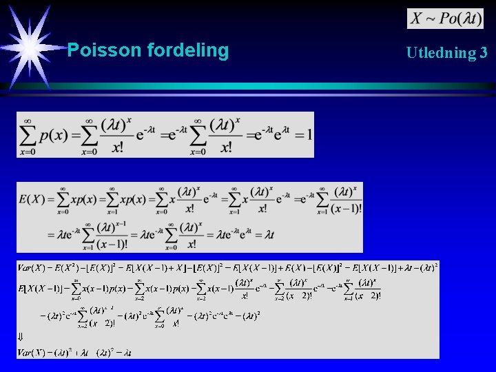 Poisson fordeling Utledning 3
