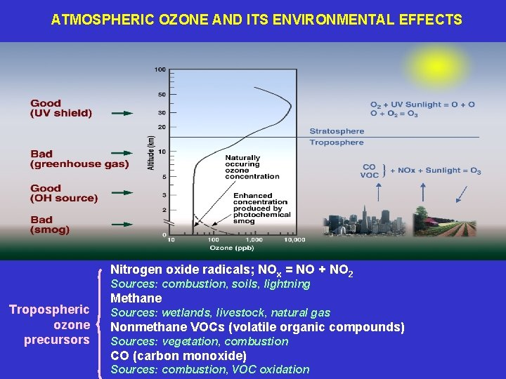 ATMOSPHERIC OZONE AND ITS ENVIRONMENTAL EFFECTS Nitrogen oxide radicals; NOx = NO + NO