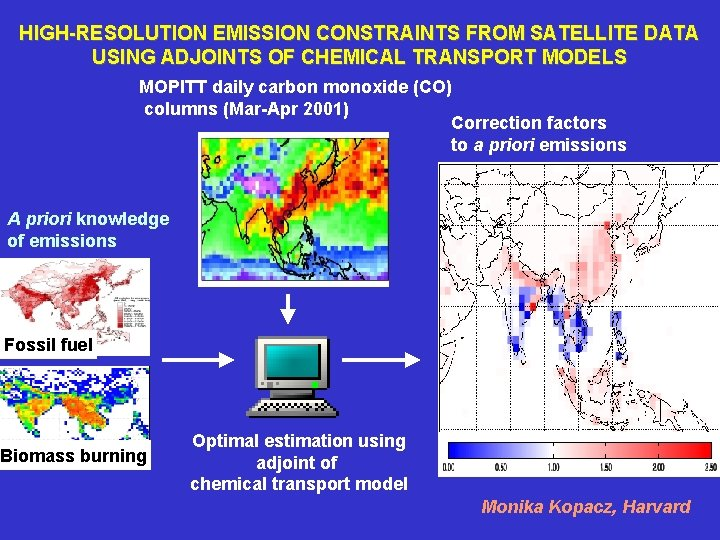 HIGH-RESOLUTION EMISSION CONSTRAINTS FROM SATELLITE DATA USING ADJOINTS OF CHEMICAL TRANSPORT MODELS MOPITT daily
