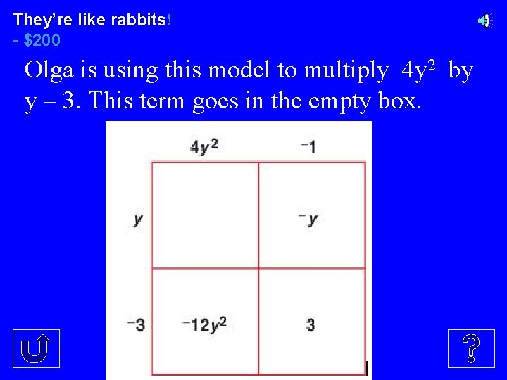 They're like rabbits! - $200 Olga is using this model to multiply 4 y