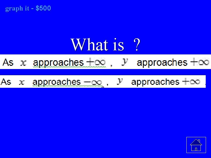 graph it it - $500 What is ?
