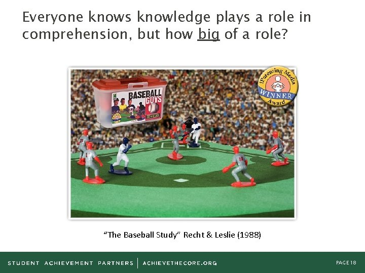 Everyone knows knowledge plays a role in comprehension, but how big of a role?