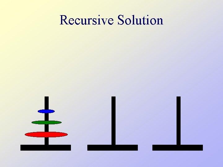 Recursive Solution