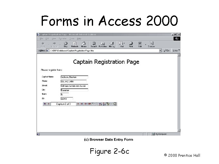 Forms in Access 2000 Page 34 Figure 2 -6 c © 2000 Prentice Hall