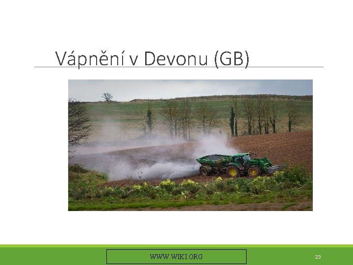 Vápnění v Devonu (GB) WWW. WIKI. ORG 23