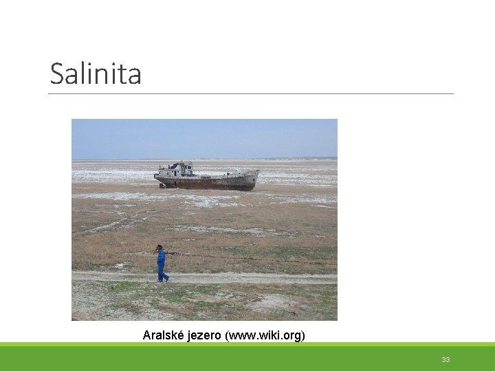Salinita Aralské jezero (www. wiki. org) 33