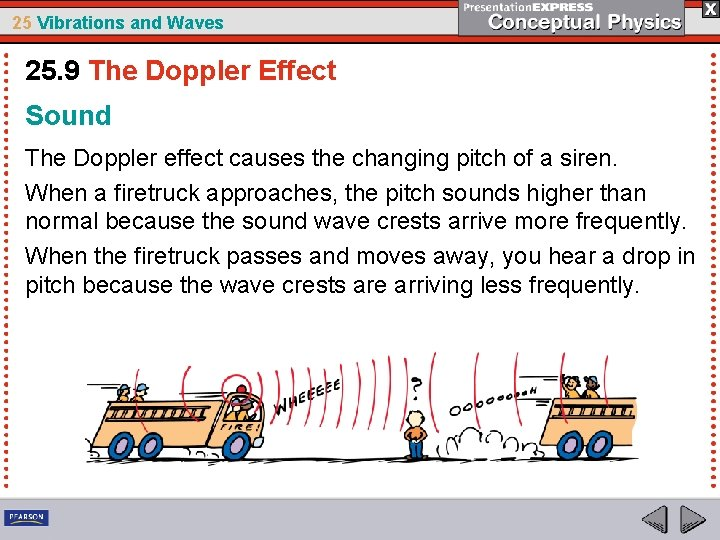 25 Vibrations and Waves 25. 9 The Doppler Effect Sound The Doppler effect causes